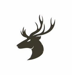 deer head logo vector image