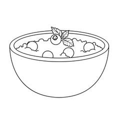 Delicious vegetarian porridgeporridge for vector