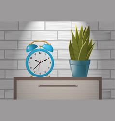 Desk alarm clock vector