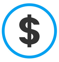 Dollar symbol rounded icon vector