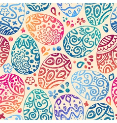 eastern sketch eggs seamless pattern vector image