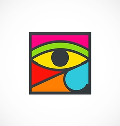 Eye decoration abstract logo vector