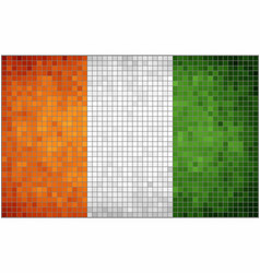 flag of ivory coast vector image