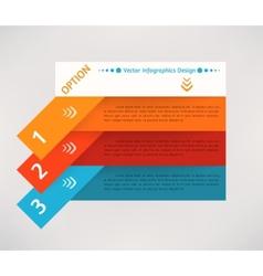 flat infographics design background vector image vector image