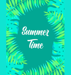 floral frame summer time vector image