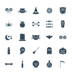 halloween solid web icons vector image
