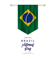 Happy brazil national day template design vector