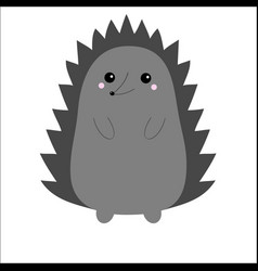 Hedgehog urchin cute cartoon kawaii animal vector