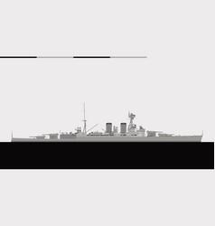 Hms hood royal navy battlecruiser vector