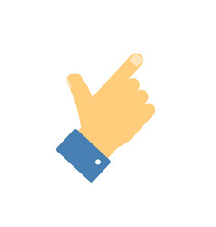 index pointer finger hand icon or thumb showing vector image