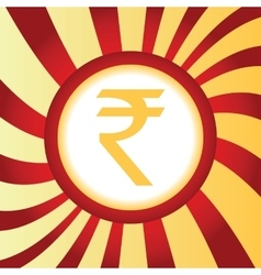 Indian rupee abstract icon vector