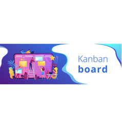 kanban board header or footer banner vector image