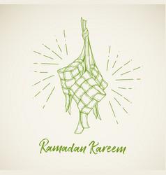Ketupat for ramadhan eid al fitri vector