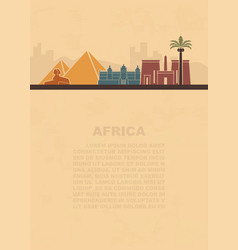 Layout leaflets with sights africa vector