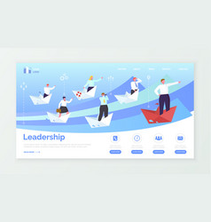 Leadership and business wep page or site template vector