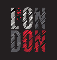 London tee print t-shirt design graphics stamp vector