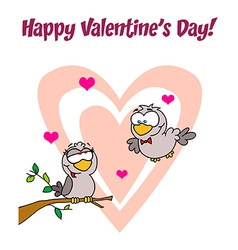 Love birds cartoon vector image