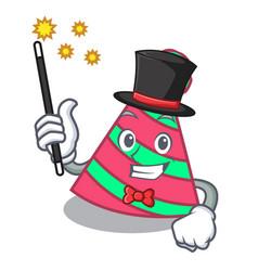 Magician party hat mascot cartoon vector