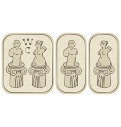 Male and female toilets vector