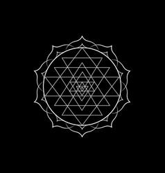 mystical mandala sri yantra for your design vector image