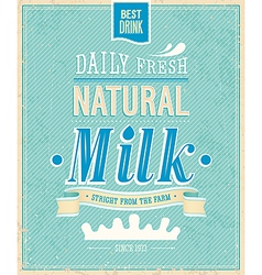 Natural Milk vector image