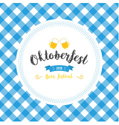 oktoberfest poster with fresh vector image