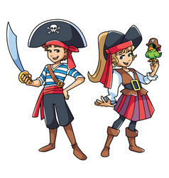 pirate kids vector image