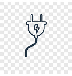 plug concept linear icon isolated on transparent vector image
