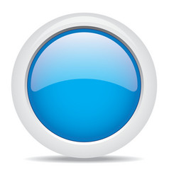popular blue color web button 3d vector image