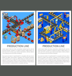 Production line posters set vector