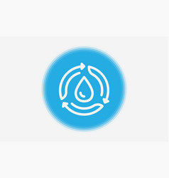 recycling water icon sign symbol vector image