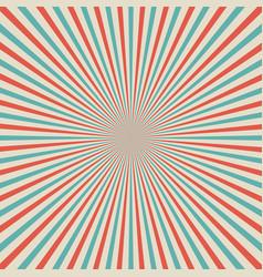 retro style pop art sunburst background with vector image