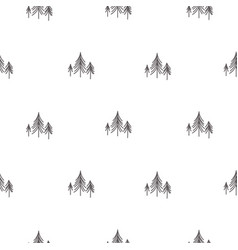scandinavian simple forest tree on white vector image