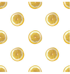 seamless background with slices of lemon vector image