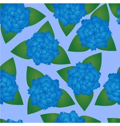 Seamless pattern of blue flowers vector image