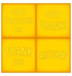 Set lettering designs for gratitude vector