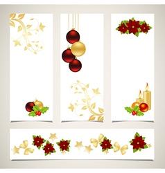 set of christmas banners 2308 01 vector image