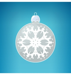 Silver Ball with Snowflake vector