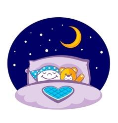 Sleeping child vector