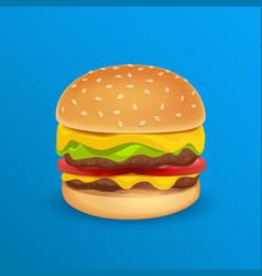 tasty classic burger vector image