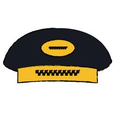 Taxi driver cap icon vector