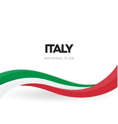 the italian republic waving flag banner national vector image