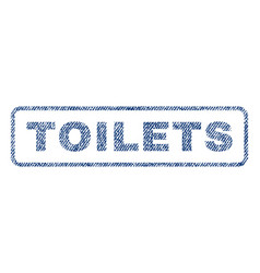 toilets textile stamp vector image