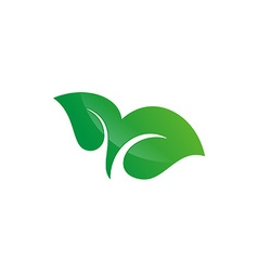 Tree leaf logo design vector image