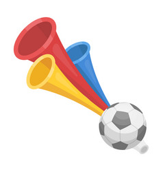 trumpet football fanfans single icon in cartoon vector image