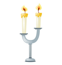 Two candles on candle stand vector