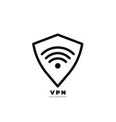 vpn icon trendy modern flat linear icon vector image