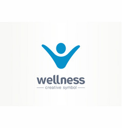 Wellness creative symbol lifestyle concept happy vector
