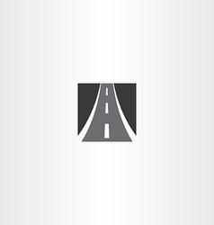 black square highway auto road icon vector image