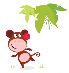 cute dancing monkey vector image